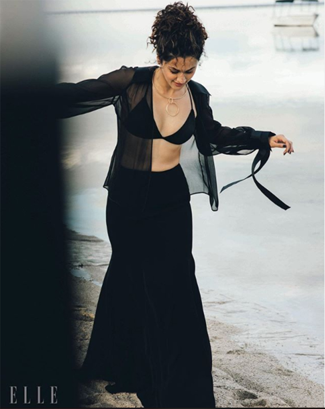 Taapsee poses for ELLE 1