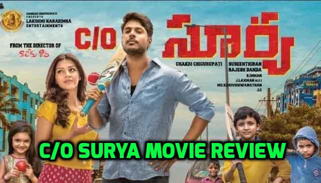 Sandeep Kishan's C/O Surya Movie Review!!